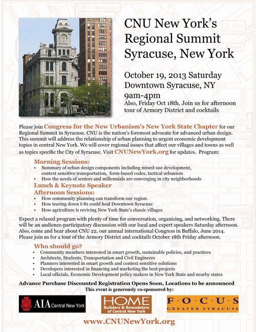CNU Syracuse Summit Announceme